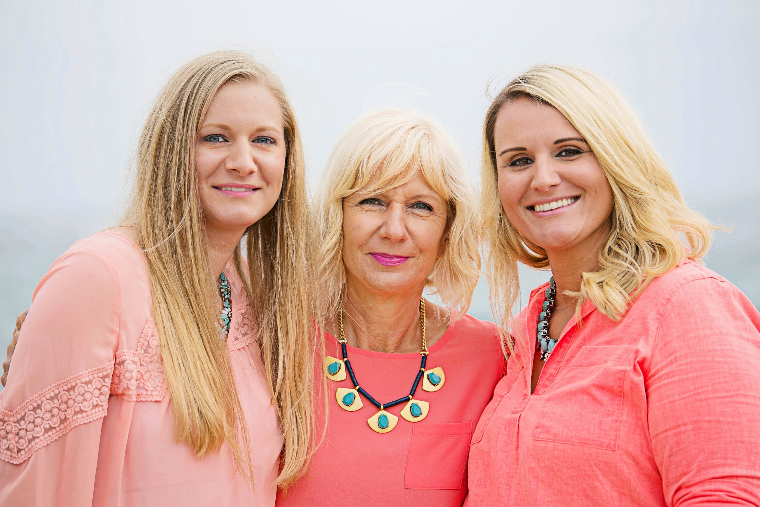 Kara Hyvarinen, pictured left, with her mom Kay and her sister Keli